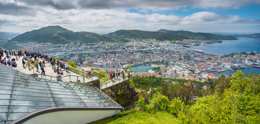 View from Mount Floyen in Bergen, Norway.jpg